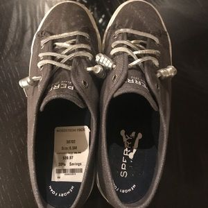 Gray 6.5 size Sperry's. Worn twice.